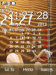 Calendar for the summer es el tema de pantalla