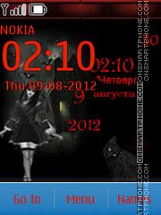 Скриншот темы Gothic Girl