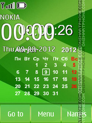 Simple Green Calendar es el tema de pantalla