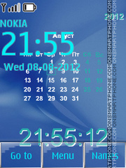Simple calendar theme screenshot