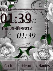 Silver Roses theme screenshot