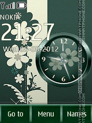 Green theme theme screenshot