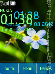 Tender flower clock theme screenshot