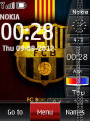 Barcelona SWF Clock 01 theme screenshot