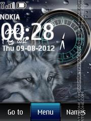 Wolf Dual Clock theme screenshot