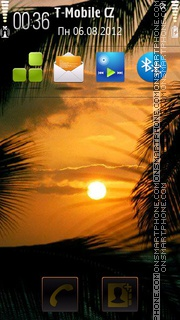 Caribbean Sunset tema screenshot