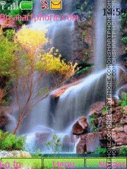 Falls and Flower tema screenshot