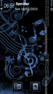Music theme screenshot