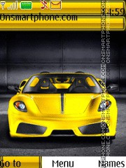 Yellow Ferrari Theme-Screenshot