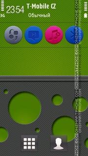 Ncarbon Series Green 5th theme screenshot