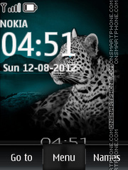 Beautiful Leopard es el tema de pantalla