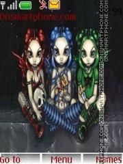 Gothic Fairies 01 theme screenshot