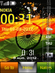 India Flag With Ringtone theme screenshot