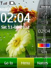 Rain And Clock theme screenshot