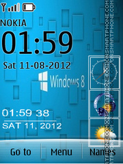 Windows 8 Clock Hd es el tema de pantalla