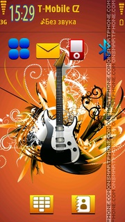 Guitar 18 theme screenshot
