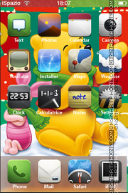 Winne the Pooh theme screenshot