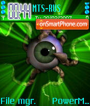 Neon Eye theme screenshot