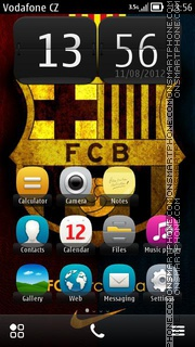 Barcelona Football Club theme screenshot