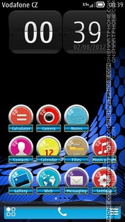 Horizon Blue theme screenshot