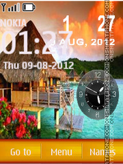 Hd Paradise Dual Clock theme screenshot