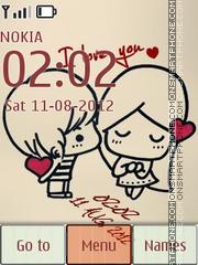 Love Digital Clock es el tema de pantalla