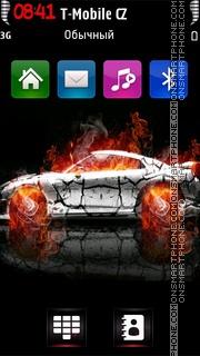 Burning Car v5 theme screenshot