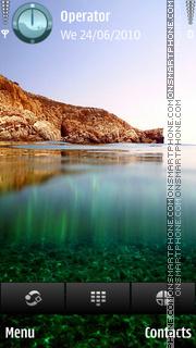 Greece Beach theme screenshot