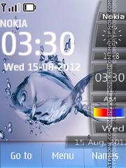 Скриншот темы Fish Digital Clock