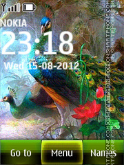 Peacocks theme screenshot