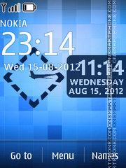 Blue Nokia Clock theme screenshot