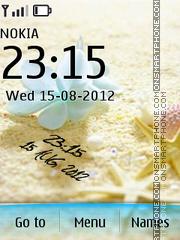 Beach Digital Clock theme screenshot