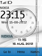 Nokia White 01 theme screenshot