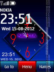 Nokia Dual Clock 07 theme screenshot