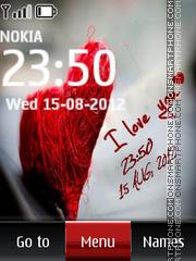 Love Digital Clock 01 theme screenshot