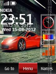 Скриншот темы Ferrari SWF Clock 01