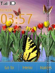 Скриншот темы Shining Butterfly