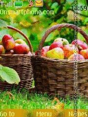 Скриншот темы Basket of apples