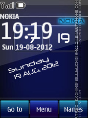Nokia Digital Clock 01 theme screenshot
