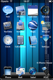 Скриншот темы Orquis Blue