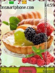 Скриншот темы Cake with Fruit