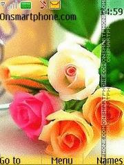 Colorful Roses es el tema de pantalla