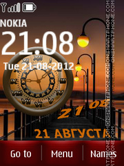 City Night Clock theme screenshot