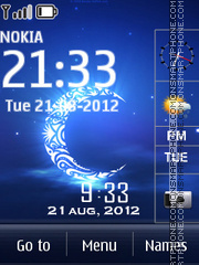 Ramadan Mubarak Clock theme screenshot