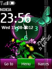 Butterfly Dual Clock 01 theme screenshot