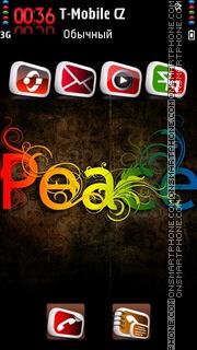 Colorful Peace theme screenshot