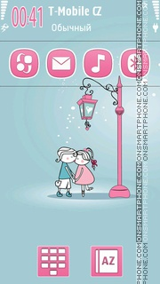 Cute Love Couples es el tema de pantalla