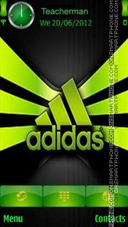 Скриншот темы Green Adidas Logo