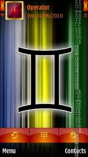 Gemini Zodiac Sign es el tema de pantalla