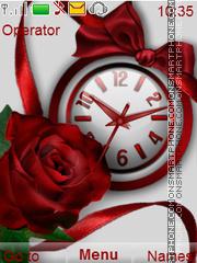 Capture d'écran Red Rose thème